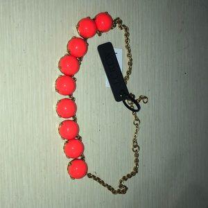 orange bauble necklace